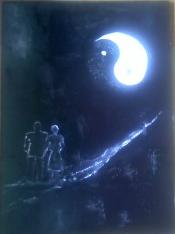 Transparence de l ame entre yin et yang 70x50
